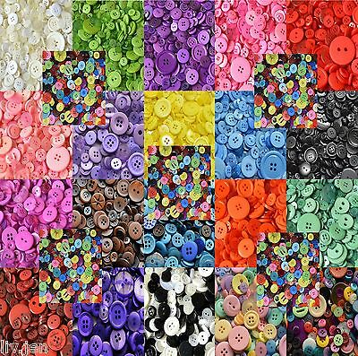50G Bag Assorted Plastic Buttons - Choose From 20 Colours - Mixed Buttons