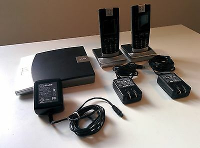 Snom m3 VoIP base station with two handsets