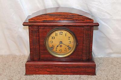 Antique Seth Thomas Rosewood Adamantine 8 Day Clock ~ Early 1900's ~ Serviced ~