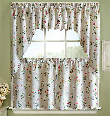Adirondack Cotton Kitchen Window Curtains - Toast - Tiers, Valance ...