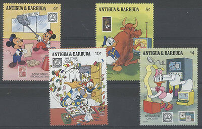 DISNEY COMMUNICATION Antigua et Barbuda 4 val 2 de 1989 **