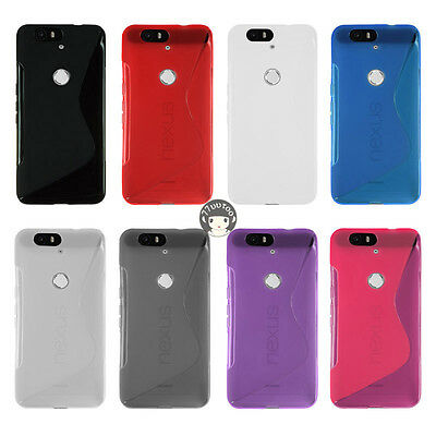 S Line Soft Gel Silicone Case Protective Cover Skin For Huawei Google Nexus 6P