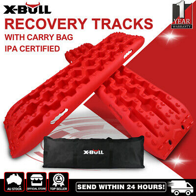 【20%OFF】X-BULL Recovery tracks Sand tracks 2pc 10T Sand/Snow/Mud 4WD Olive Green