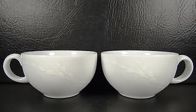 Denby White Trace Set of 2 Cups Embossed England & DENBY WHITE TRACE 4 Cup Teapot Tea Pot u0026 Lid Tree Branches Porcelain ...