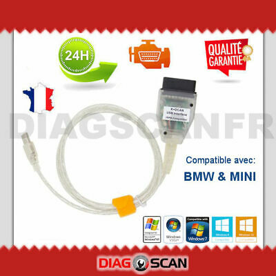 Cable Interface de diagnostique pour BMW MINI - INPA K+DCAN OBD2 EDIABAS NCS