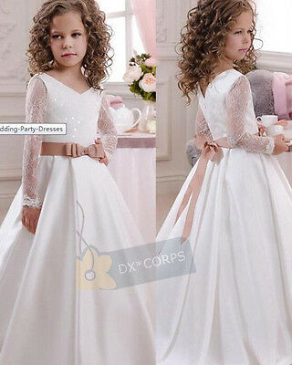 Flower Girl Dress Communion Pageant Wedding Dresses Graduation Bridesmaid Dress