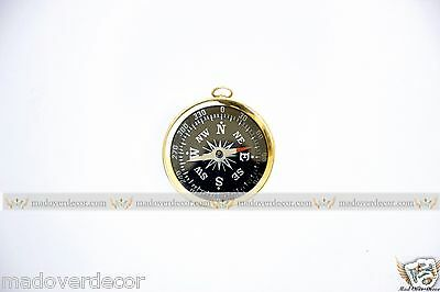 Nautical Vintage Ship Marine Maritime Brass 1'' Camping And Hiking Compass