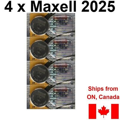 4 NEW MAXELL CR2025 DL2025 DL CR 2025 Batteries Lithium BATTERY. FREE SHIP