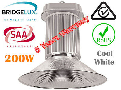 LED 200W High Bay Light FOR Warehouse Factory Garage CE SAA Approval BRIDGELUX