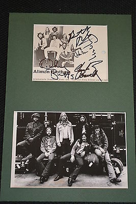 THE ALLMAN BROTHERS signed Autogramm 20x30 cm In Person Passepartout GREG ALLMAN