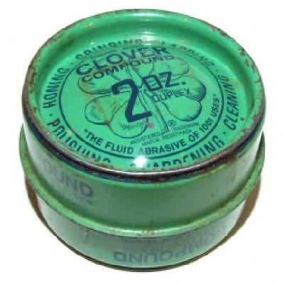 Old 2 Ounce Clover Compound Tin Grinding Polishing - Partially Full