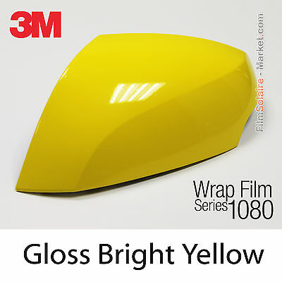 10x20cm FILM Gloss Bright Yellow 3M 1080 G15 Vinyle COVERING Car Wrapping