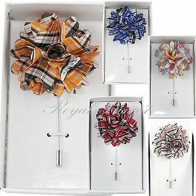 New Men's Suit brooch chest buckle brooch Plaid & Checkers Pin lapel pin PL120