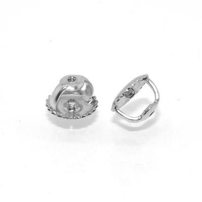New replacement pair of Screw Earring Backs (Heavy Ear nuts) in 14K White Gold