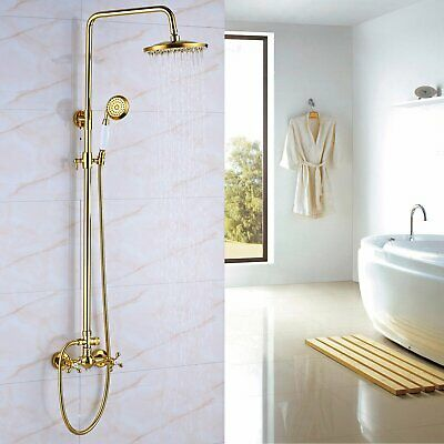 Oil Rubbed Bronze Shower Faucet Rainfall Shower Head With Hand Sprayer Mixer Tap