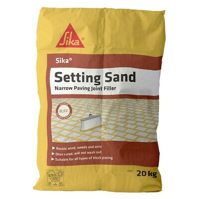 Sika Setting Sand Narrow Joint Filler Buff Paving Pointing Jointing Compound 20k
