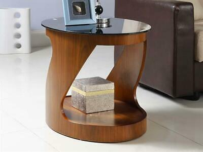 Lewis Curve Walnut Furniture Oval Lamp Side Table Jf304