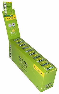 10 NICFREE Premium Cigarette Filters 300 Tips Filter Out Nic Tar SHIPS FREE