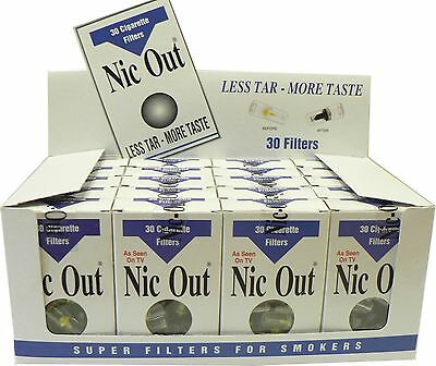 NIC OUT 20 pack Cigarette Filters 600 Tips Filter Out Tar & Nic FREE SHIPPING