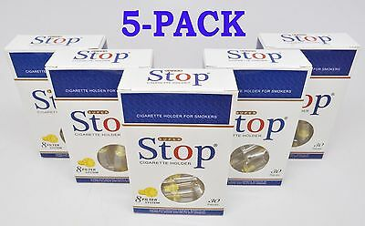 5 Pack New 8 hole Super Stop Cigarette Filters - SAME DAY FREE SHIPPING