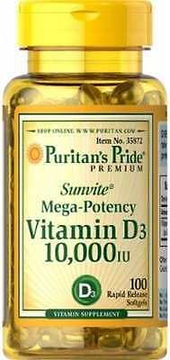 Vitamin D3 *10.000 IU x 100 Softgels MEGA POTENCY *AMAZING PRICE* 24HR DISPATCH