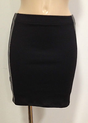 Size 4-14 Black Mini SkirtStretchTubeStraightThick Fabric