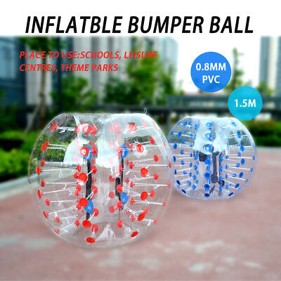 Top Inflatable Ball  Bumper Bubble Body Zorb 1.5M Soccer Red&blue Pvc Football