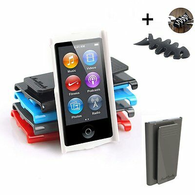 Smooth hard Case Cover W/ Belt Clip Skin For Apple iPod Nano 7 7G 7th Gen + gift