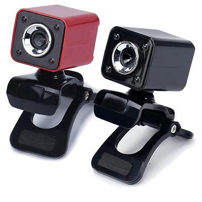 USB 2.0 1080P 8.0MP 4 LED HD Webcam Camera with MIC for Laptop Computer PC