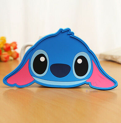 2pcs  Lilo & Stitch Silicone Coffee Coaster Cup Glass Beverage Holder Pad Mat