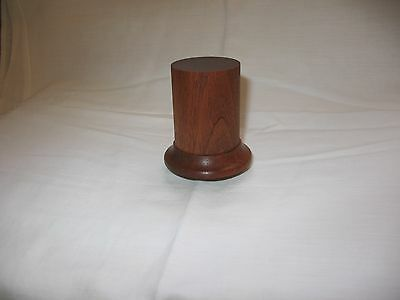 high quality round plinth of sapele wood,for bust and figures 54mm.