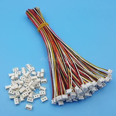 50Sets 4Pin SH 1.25mm Single End 15cm 28AWG Wire To Board Connectors
