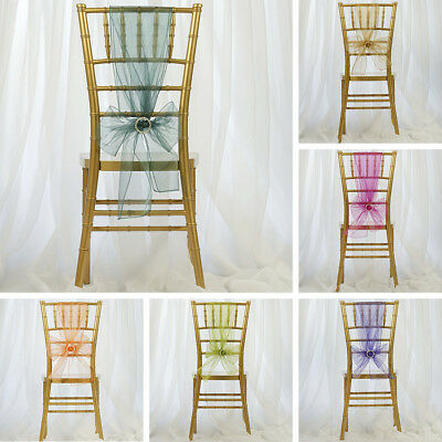 250 Sheer Organza CHAIR SASHES Ties Bows WHOLESALE Wedding Party Decorations