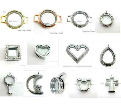 1pc Multiple Copy Stainless Steel Glass Living Memory Locket Free shipping