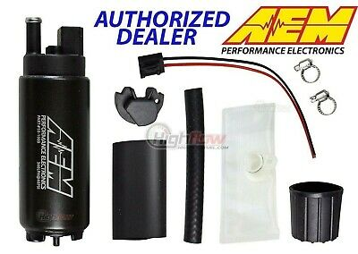 GENUINE AEM 50-1000 320LPH High Performance EFI Fuel Pump w/ Install Kit 320LPH