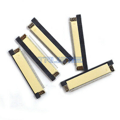 5 Pcs FFC/FPC Flexible Flat Cable Connector 40 Pin 0.5mm Pitch ZIF Terminal