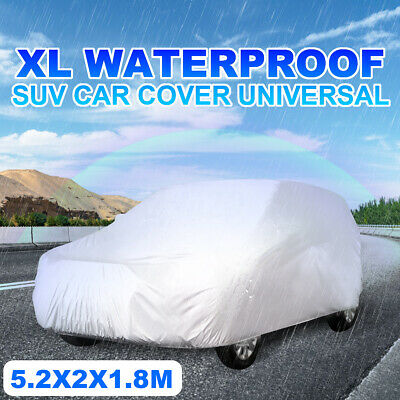 4x4 SUV Car Cover Waterproof Dust Rainproof Sunscreen UV Protection 5.2x2x1.8M
