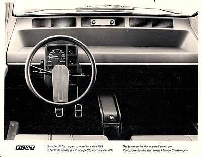 Fiat 126 Town Car Concept Dashboard c 1973 Original Press Photograph