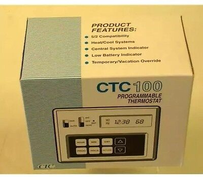 New CTC Programmable Thermostat for Heating/Cooling Model 43100 5/2 Programmable