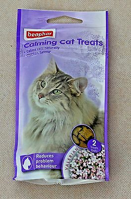 Beaphar Calming Cat Treats 35g, Cat Stress Relief, pet calming