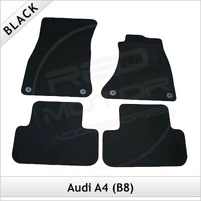 Audi A4 Estate Avant B8 2008-2015 Tailored Fitted Carpet Car Floor Mats BLACK