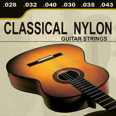 Kit 6 Corde Fender di Nylon per Chitarra Classica Acustic Guitar Strings Tie End