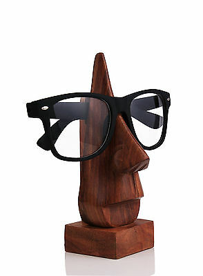 Eyeglass Sunglass Holder Display Stand Handmade Rosewood Craft Man Woman Glases