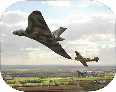 VULCAN & SPITFIRE in flight image on a computer Mouse Mat unbranded/generic