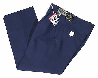 NEW VTG 80s SAMBRO Boys SLACKS Pleated Size 8 Navy Blue Pants 24 1/2 x 22 Chinos
