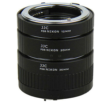 JJC AET-NS Automatic Extension Tube for Nikon F mount 12mm 20mm 36mm D5300 D7200