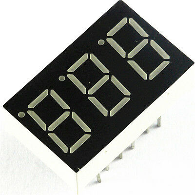 5PCS NEW 0.36 inch 3 digit 7 seg segment Common anode led display Red