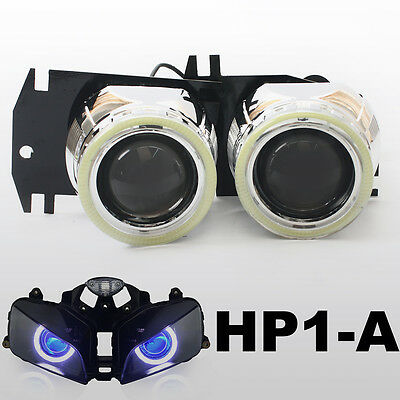 KT Angel Halo Eye HID Kit Projector Headlight Lens for Honda CBR600RR 2003-2006