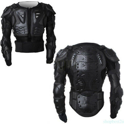 Men's Full Motorcycle Body Armor Shirt Jacket Motocross Back Shoulder Protector