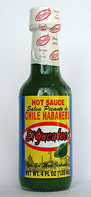 El Yucateco Chile Habanero, Green Hot Sauce, Salsa Picante 120ml